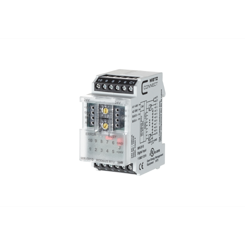 MR-DI10 Modbus RTU module with 10 digital inputs