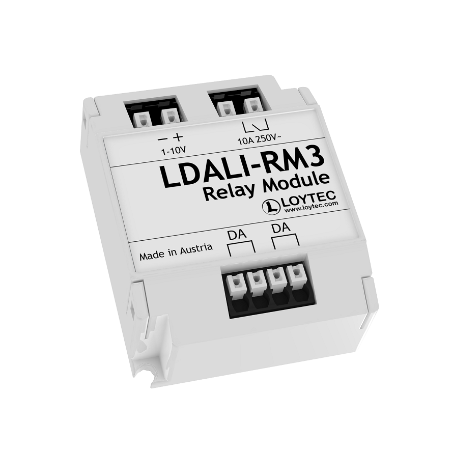 DALI Relay Module 10 A, Analog Interface 0 – 10 V and 1 – 10 V
