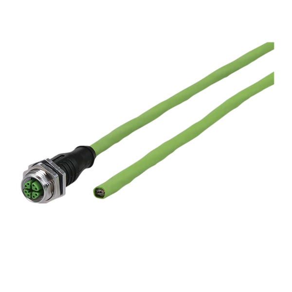 Connection cable M12 jack straight - free line end 8-pole, X-coded 0.5 m