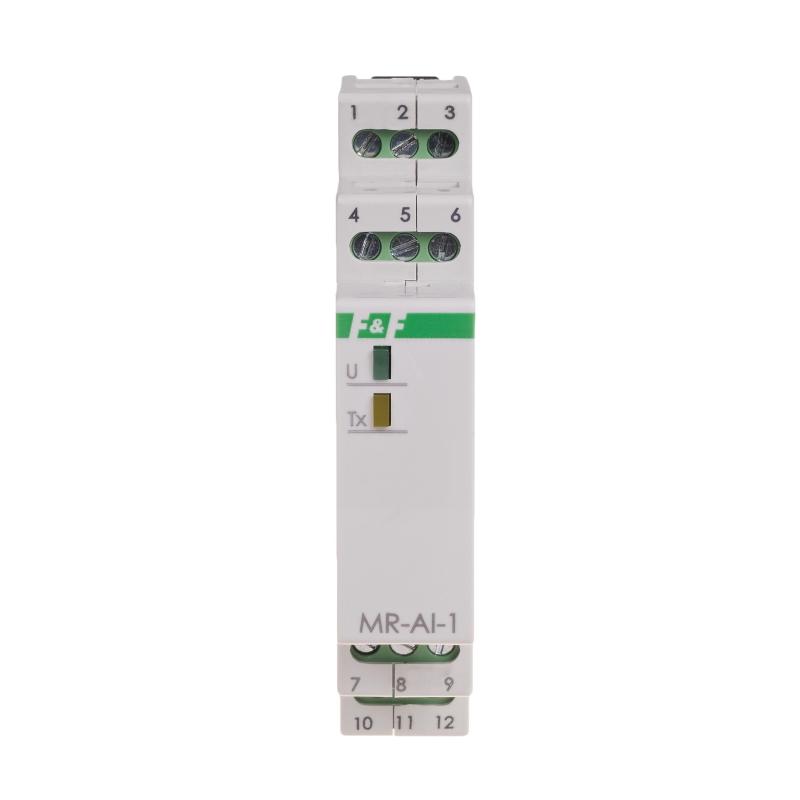 MR-AI-1: Modulo 4 ingressi analogici 0..10VDC / 4..20mA Modbus RTU