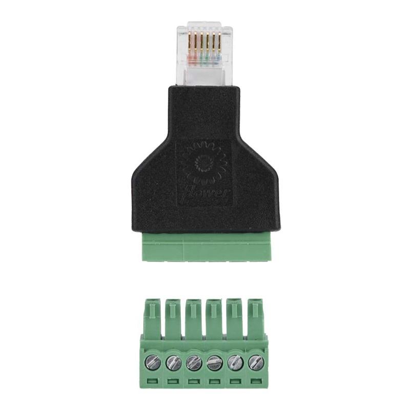 Adattatore RJ12 maschio > Terminal Block 6 pin 2-parts