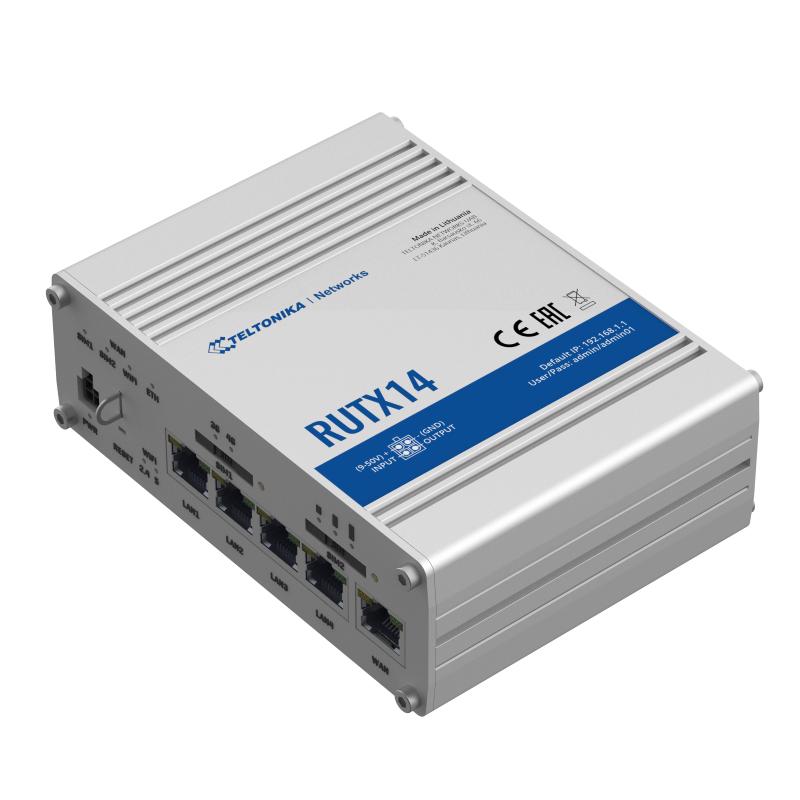 RUTX14 4G LTE CAT12 INDUSTRIAL CELLULAR ROUTER