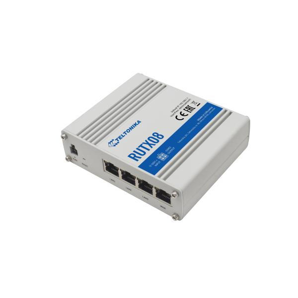 RUTX08 Router 4 porte Ethernet Gigabit, RutOS e servizi VPN multipli