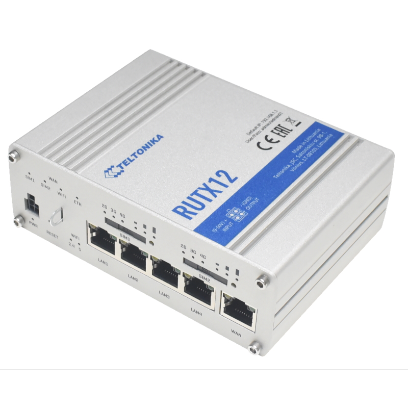 RUTX12 Powerful Dual LTE Cat 6 router