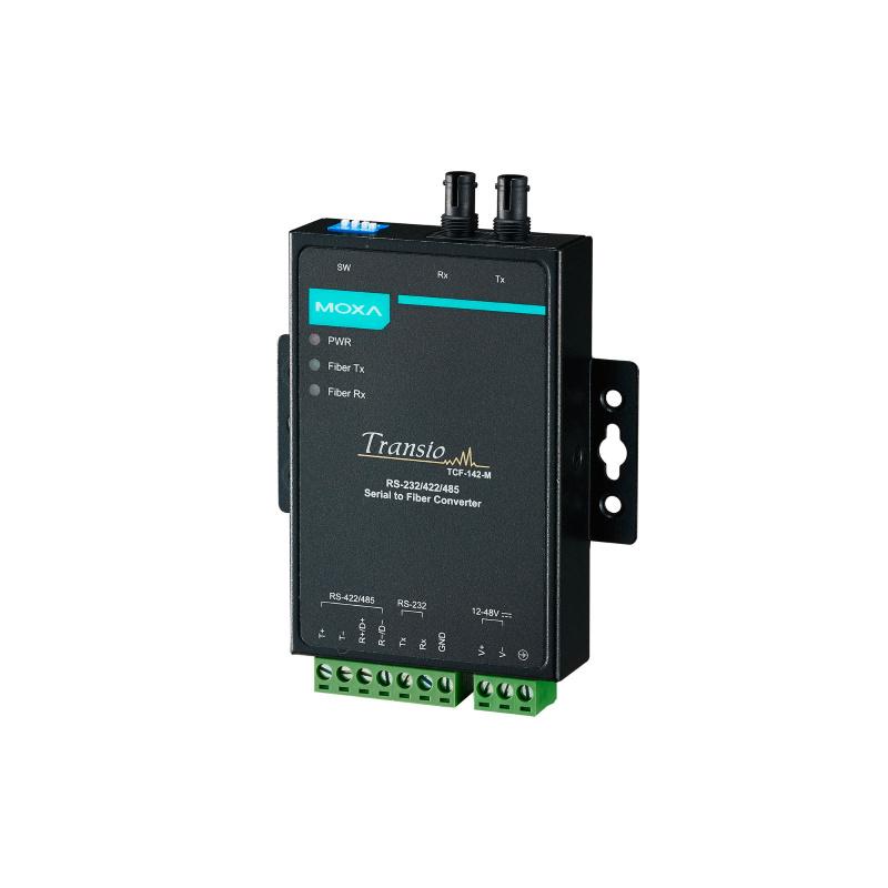 TCF-142-M-ST RS-232/422/485 serial converter to ST multi-modal optical fiber