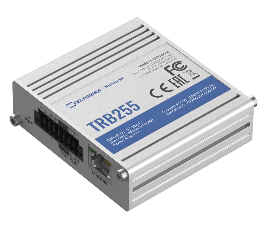 TRB255: LTE Cat M1 and NB-IoT industrial gateway