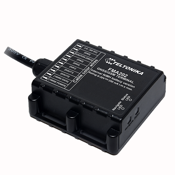 FMA202 Small and professional waterproof tracker with internal high gain GNSS/GSM antennas and high capacity internal Ni-MH battery