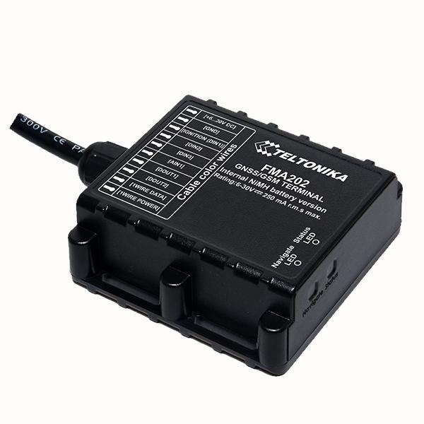 FMA202  Tracker impermeabile piccolo e professionale con antenne GNSS / GSM interne ad alto guadagno e batteria interna Ni-MH ad alta capacità