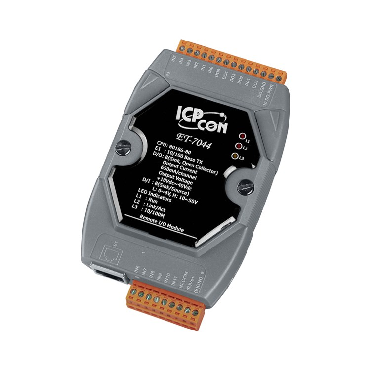 ICPDAS ET7044 8 DI e 8 DO MODBUS TCP
