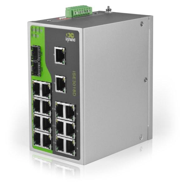 ISE 3018D - Ethernet Switch 18 porte Industriale range temperatura esteso