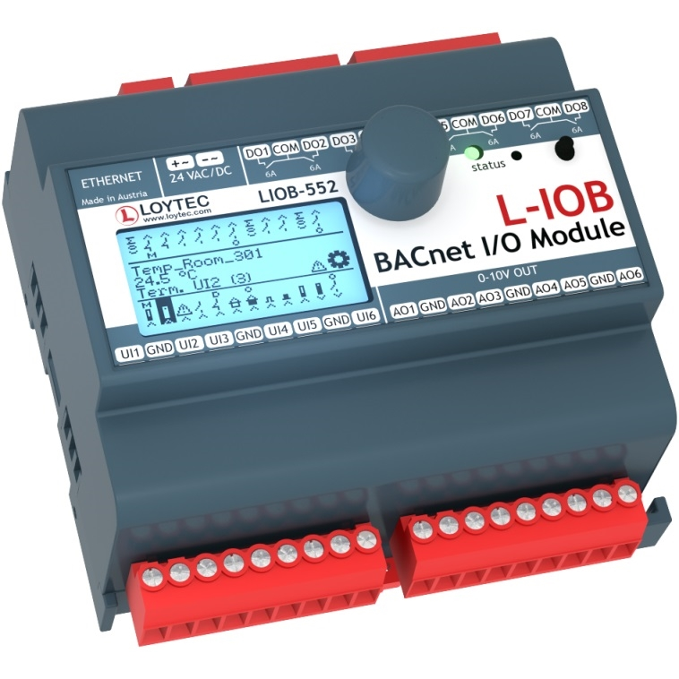 L-IOB-552 I/O Modules BACnet/IP
