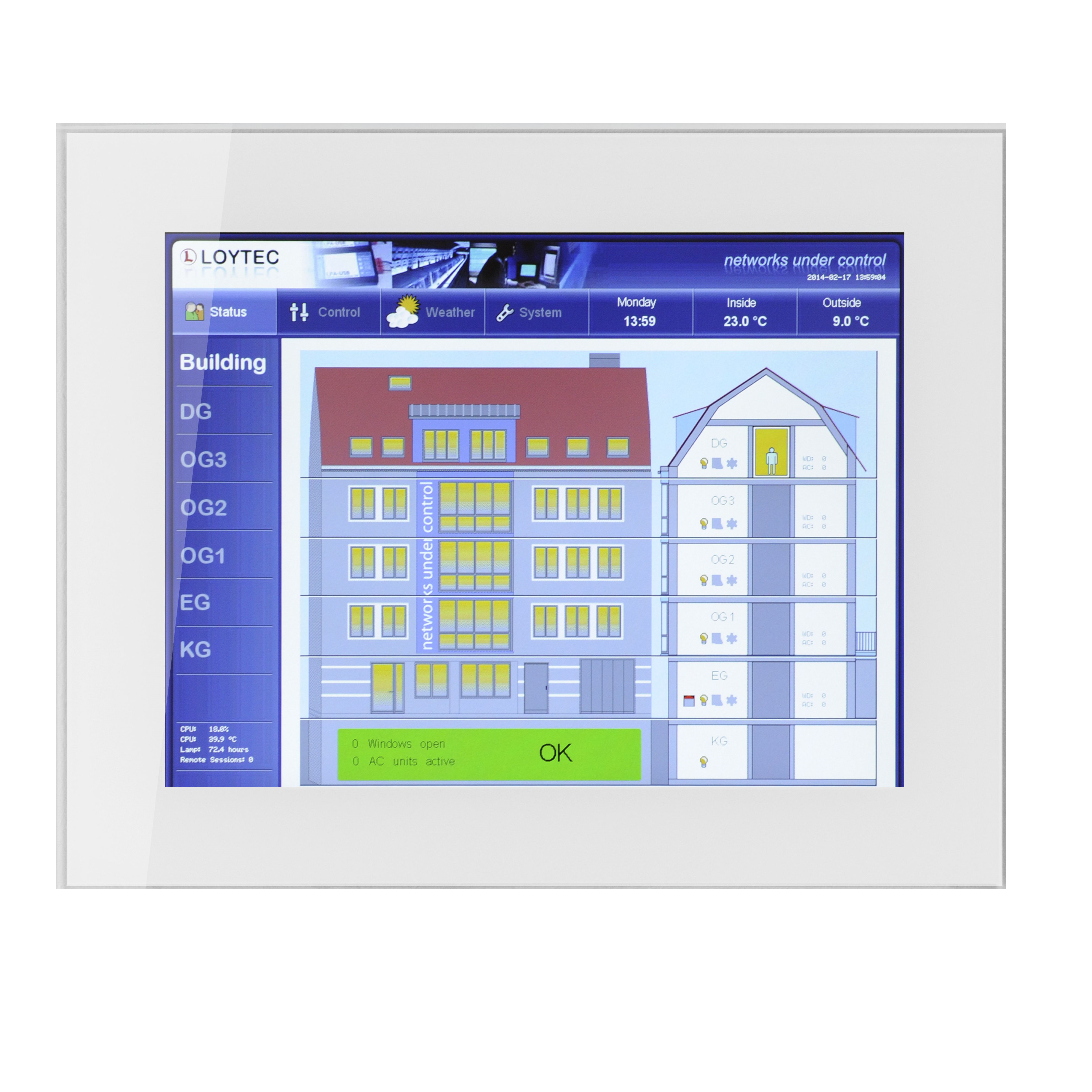 "LVIS-3ME15-Gx  CEA‑709, BACnet, and Modbus Touch Panel 15"", aluminum frame with anodized finish"
