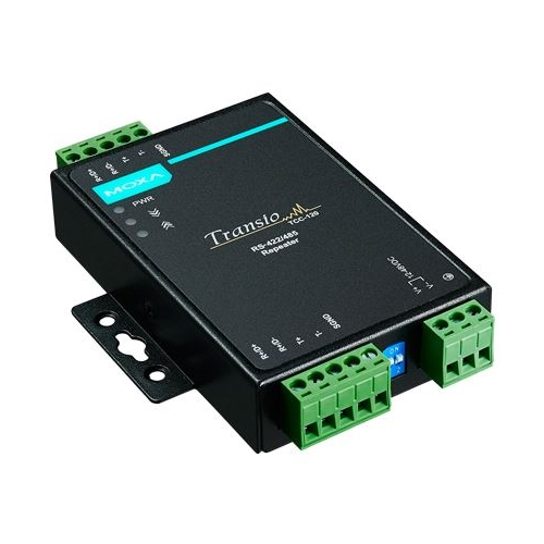 MOXA TCC-120: Repeater industriali RS-422/485 con connettore a morsetti
