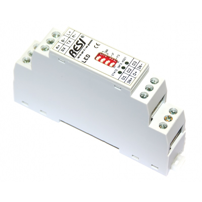 RESI-1LED-MODBUS Comando striscie LED via MODBUS
