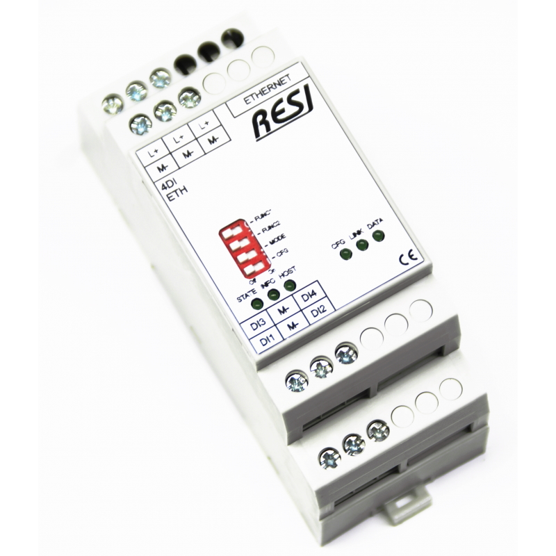 RESI-4DI-ETH  quattro ingressi digitali MODBUS TCP  / ASCII