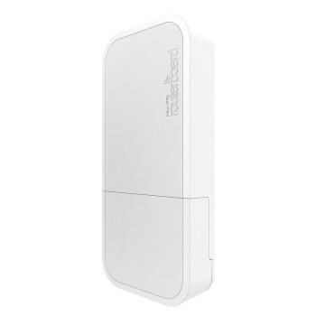 WAP RBwAP2nD:Punto di accesso wireless MikroTik 2,4 GHz 2dBi resistente alle intemperie (bianco)