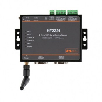 HF2221 Dispositivo Device Server - due porte RS232/RS485, TCP/IP, WIFI
