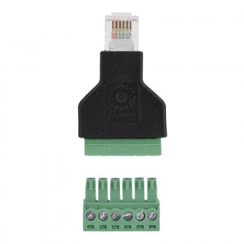 RJ12-SCREW:Adattatore RJ12 maschio > Terminal Block 6 pin 2-parts