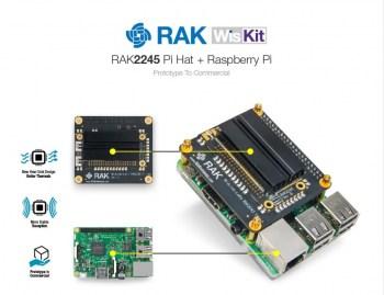 WISKIT RAK2245 Pi HAT & Raspberry Pi 3B+ & 16G TF Card