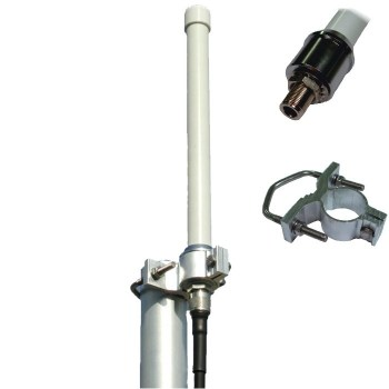 ANT-12: SCO-2451 antenna Wifi Omnidirezionale Dual-Band,4-6dB, connettore N femmina