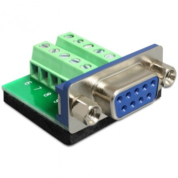 DB9F-SCREW:Adapter Sub-D 9 pin female > Terminal block 10 pin