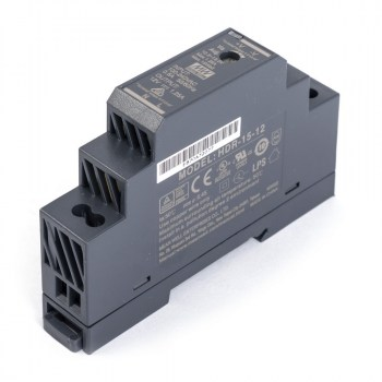 HDR-15-12:AC/DC DIN RAIL Single output 15W 12Vdc 1.25A
