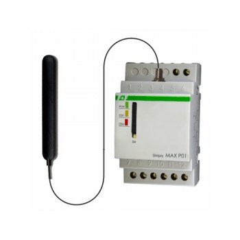 SIMply MAX P01: GSM Remote control Relay: due relay comandabili via SMS e due ingressi digitali per invio allarmi