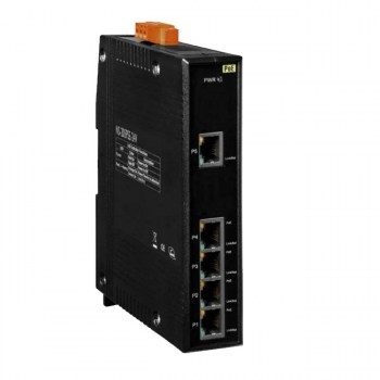 NS-205PSE-24V: Unmanaged 5-port 10/100 Mbps PoE (PSE) Ethernet Switch; +24 VDC Input (RoHS)