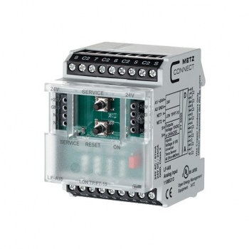 MLF- IO MODULE: For building automation, we offer intelligent I/O components with fieldbus LON with FT5000 processor and analog and digital inputs.