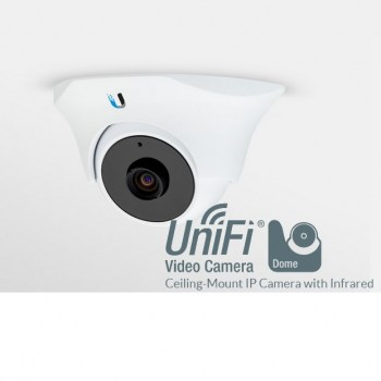 La UniFi Video Camera Dome è stata progettata per l'uso in interni o all'aperto, installate in controsoffitto. La fotocamera ha LED ad infrarossi con filtro IR cut automatico.