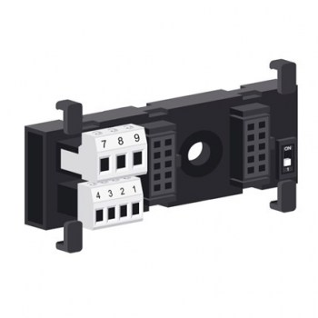 Z-PC-DINAL2-17.5:Head terminal + 2 slot 17.5mm DIN rail bus system for Z-PC Line I/O fast mounting and connection