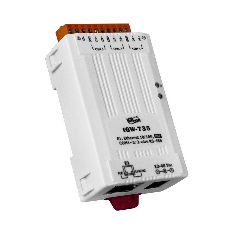 TGW-735 CR - MODBUS TCP-MODBUS RTU/ASCII transparent gateway 3 RS485 ports