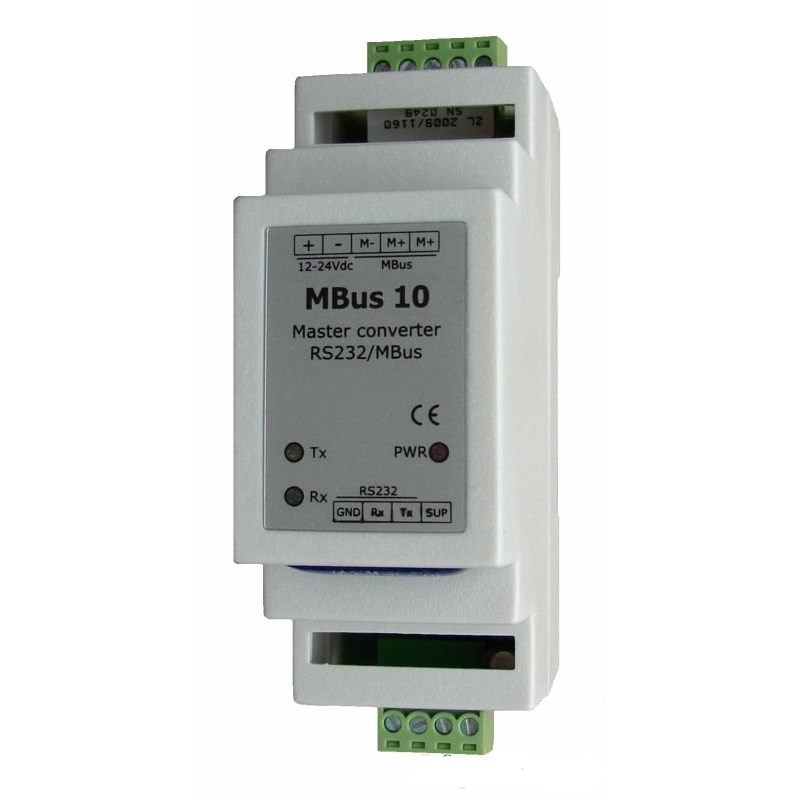 Convertitore M-Bus Seriale RS232 10 dispositivi