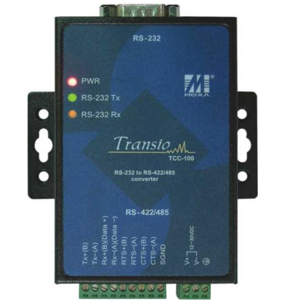 MOXA TCC-100:Industrial RS-232 to RS-422/485 converter