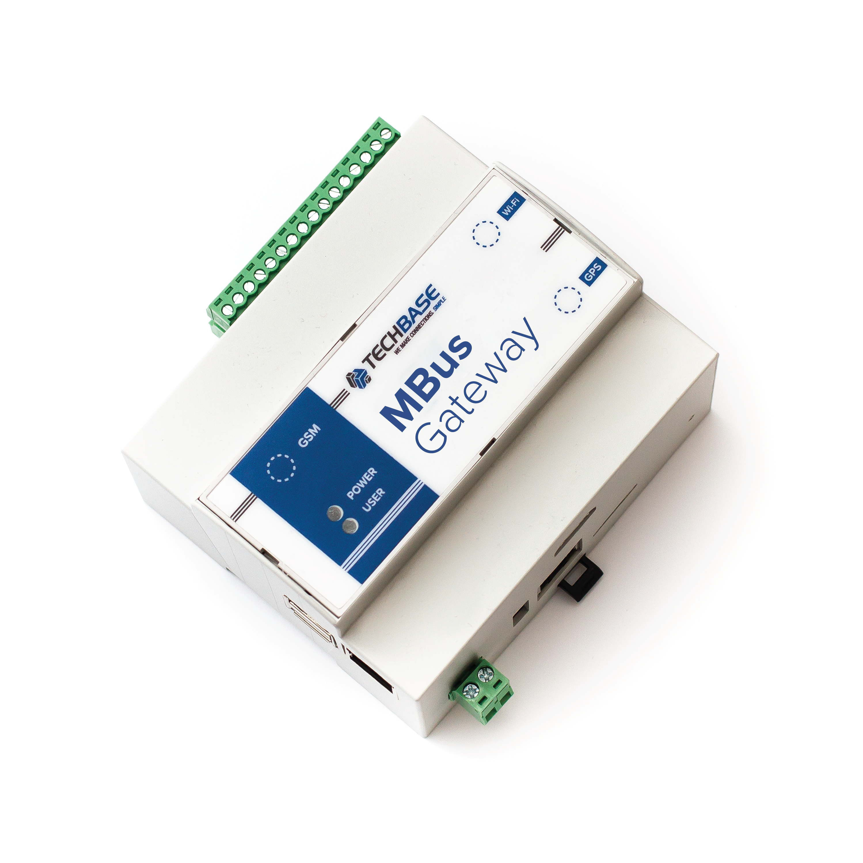 MBUS-GAT-400: Gateway MODBUS TCP- Meterbus max 400 slave