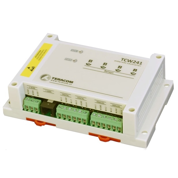 TCW241 Modulo Ethernet con 4 DI, 4 AI e 4 DO relay