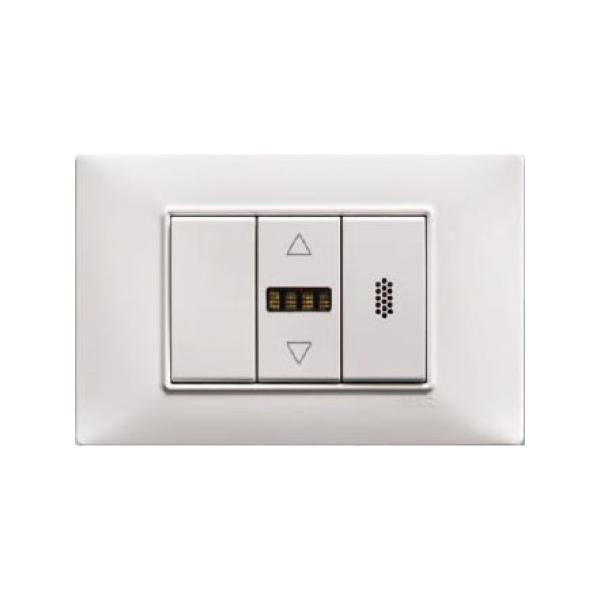 Sensore di Temperatura e Umidità Relativa con display LED da incasso, MODBUS